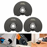 Pukido 3pcs 88mm High Carbon Steel Semicircle Flush Saw Blades Ocsillating Multitool Accessories