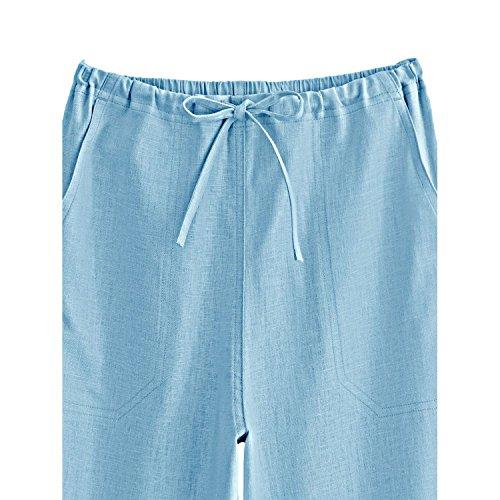Blair Women's Acadia Linen-Blend Capris - L Delphi Blue