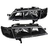 97 honda accord headlights jdm - Fit Honda Accord JDM Black Headlights+Clear Corner Turning Signal Lamps Pair