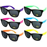 Edge I-Wear 80's Neon Sunglasses with 100% UV Protection (Made in Taiwan)