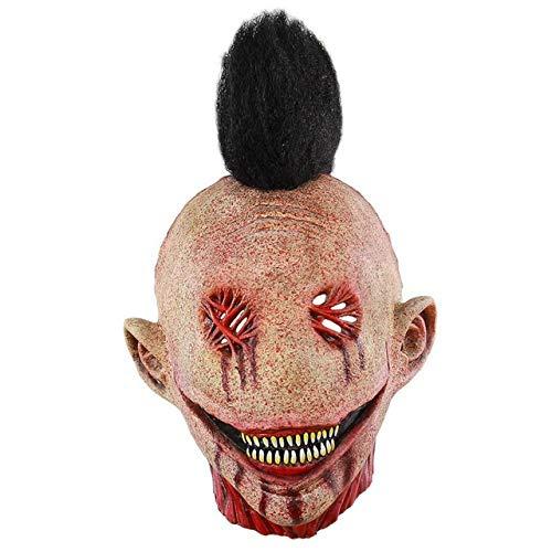 Masks - Latex Halloween Mask Adult Horror Party Clown Prop - Block Cloak Allhallow Eve - 1PCs
