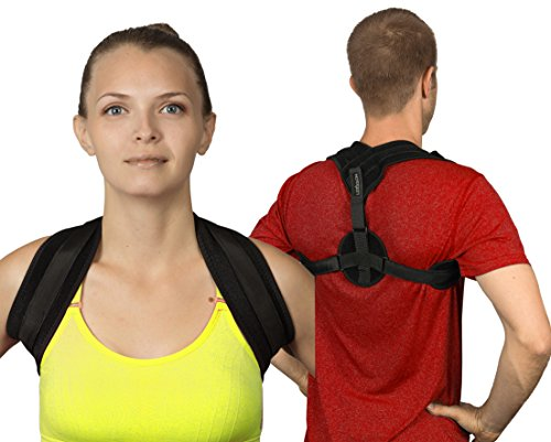 LEXSSON Posture Corrector Back Support Brace for Men & Women: Adjustable & Wearable Medical Posture Device with Comfort Shoulder Straps to Improve Lumbar, Thoracic & Cervical Pain & Slouching by LEXSSON