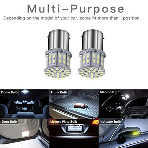 Ecosin 20 Pcs Super Bright 50 SMD 3014 LED Replace 12V Automobile Interior Light Bulb