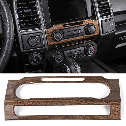 Voodonala Wood Grain Central Control Volume Panel Decorative Trim for Ford F150 2015 2016 2017