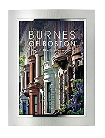 burnes of boston 498057 city lights picture frame silver 5 by 7 inches