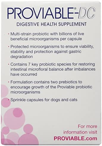 Proviable-DC Probiotic Digestive Health Supplement for Dogs and Cats, 30 ct. Sprinkle Capsules 3
