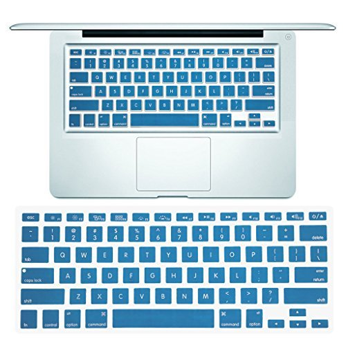 Arrontop - Ultra thin Keyboard Cover Silicone Skin for MacBook Pro 13 15 17 (with or w/out Retina Display) iMac and MacBook Air 13 - Lake Blue [並行輸入品] B077N4LGQ8