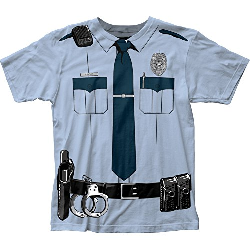 Johnny Law Men's Cop Uniform Slim-Fit T-Shirt Light Blue XL]()
