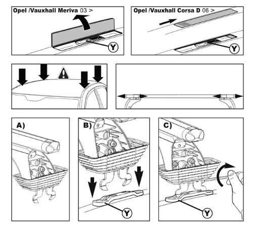 Green Valley 156222 Montage Kit for Original Roof Racks