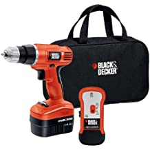 Black & Decker GCO14SFB 14-Volt NiCad 3/8-Inch Cordless Drill/Driver with Storage Bag and Stud Sensor