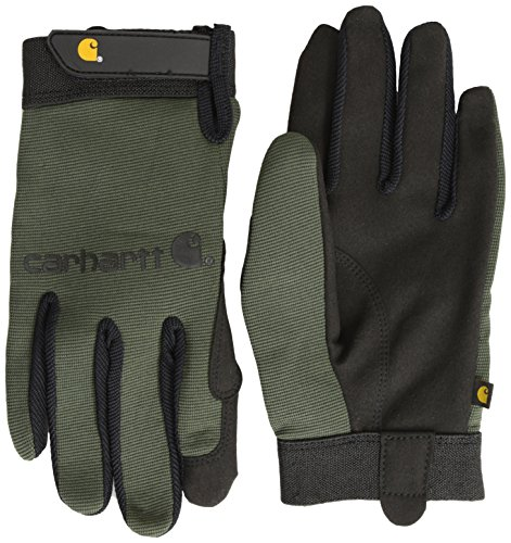 Carhartt Men's The Fixer Spandex Work Glove with Water Repellant Palm, Army, Small