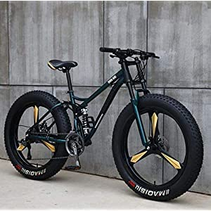 51m9GZ6YQoL. SS300 WJJH Mountain Bike per Uomo e Donna, Telaio in Acciaio al Carbonio, Freno a Disco Meccanico, Ruote in Lega di Alluminio da 26 Pollici