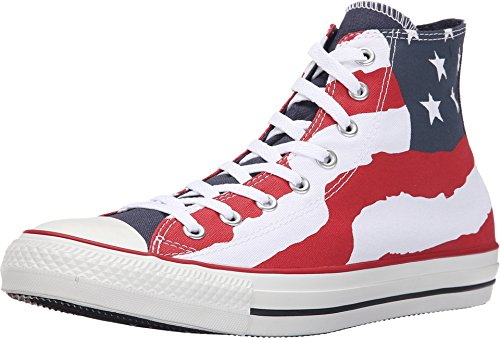 Converse Chuck Taylor High Top Flag All Star Freedom Bars and Stars Red/White/Blue 148869F (US Men 8/Women 10)