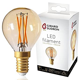 E14 Sphérique Led Filament Ambrée Ampoule À Dimmable 4w Girard A54jRL