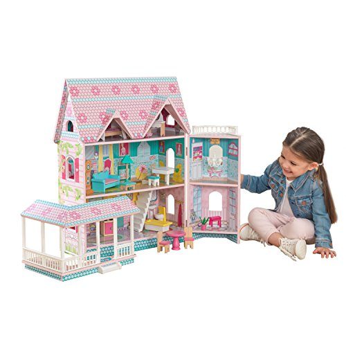 Abbey Manor Dollhouse with 16-piece accessory kit included by KidKraft by KidKraft