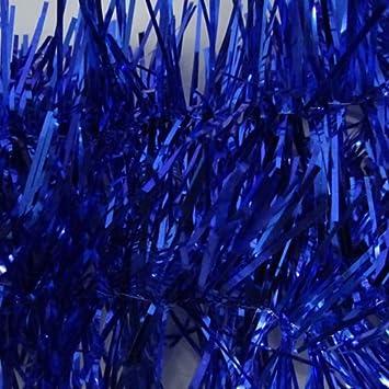 Sapin de Noel guirlande pour sapin de noel : Guirlande Couleur Bleu Métallique de 1,80M Décoration Pour Sapin ...