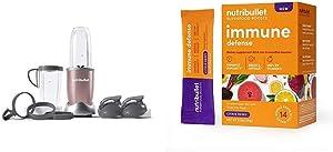 NutriBullet NB9-1301RG Pro 13 Pcs Rose Gold with SuperFood Immune Defense Boosts - 14 Single Serve Packs