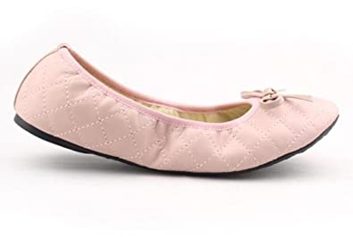 Sinderella Flats - Milian - Women s Pink Diamond Stiched Folding Ballerina  Pumps (42 ... 9f67ceced