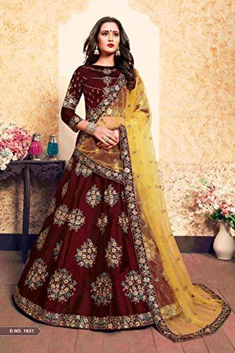 Pesado De Indio Bordado Novia Silk Emporium Cóctel amp; Saree Balaji 7521 Shri Lehenga Vestido Recepción Trabajo Cotton Diseñador P0naaq