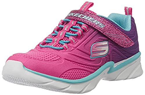 05. Skechers Kids Swirly Girl Gore and Strap Sneaker (Little Kid/Big Kid/Toddler)