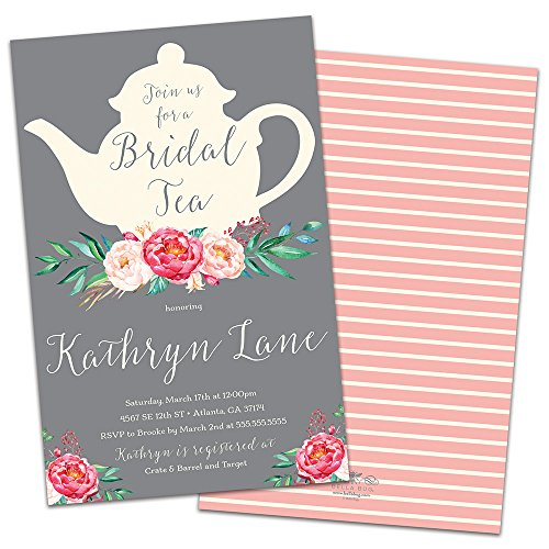 Tea Time Personalized Bridal Shower Invitations