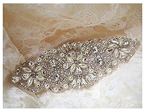Abiti da cintura con strass applique abiti da sposa cintura