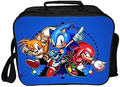 Qushy Sonic Lunchbox f/ür Erwachsene Picknicktasche a