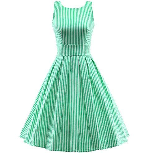 En El Verano Señora Delgado Cómodo Simple Relajado Vestidos Green