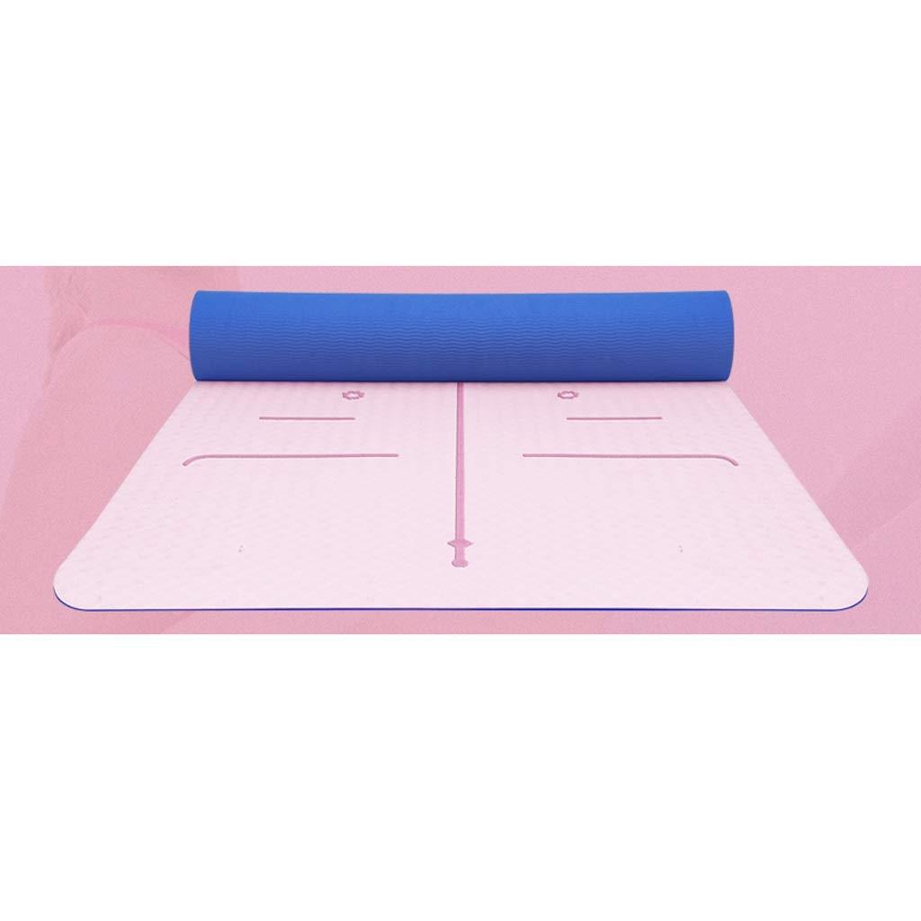 ASJHK Stuoia di Yoga TPE Yoga Mat Femminile principiante Slittamento Fitness Mat Tre Pezzi stuoia di Yoga Mat Mat casa Yoga Mat Signore Stuoia di Yoga (colore   B, Dimensioni   8mm)