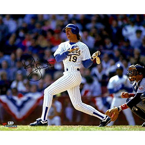 Robin Yount Milwaukee Brewers FAN Autographed Signed 16x20 Horizontal Swing Photograph With HOF 99 Inscription - Certified Signature