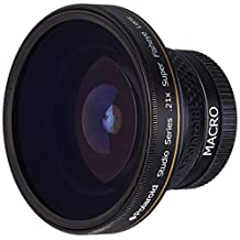 Polaroid Studio Series 37mm .21x Super Fisheye Lens With Macro Attachment, Includes Lens Pouch and Cap Covers