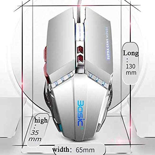 for Gamer//PC//MAC LJ2 Gaming Mouse,High Precision Programmable Optical Gaming Mouse with 7 Buttons,Adjustment DPI