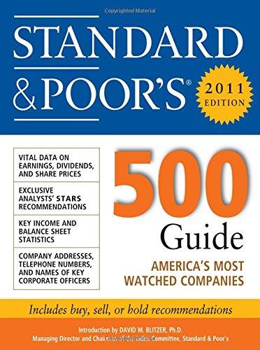 Standard & Poor''s 500 Guide, 2011 Edition (Standard & Poor's 500 Guide) ebook