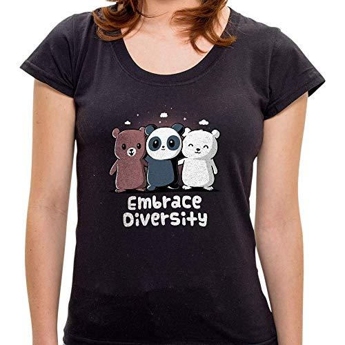 Camiseta Embrace Diversity - Feminina Pr - Camiseta Embrance Diversity - Feminina - G