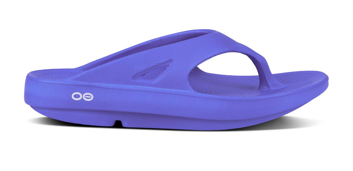 OOFOS - Unisex Ooriginal - Post Run Sports Recovery Thong Sandal - Periwinkle - M13/W15