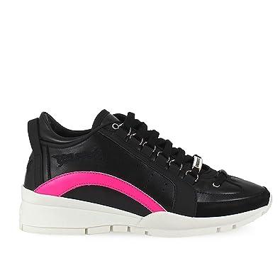DsquaRouge2 Chaussures été Femme Baskets 551 Noir Fuchsia Printemps été Chaussures 96672c