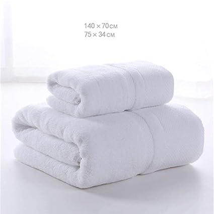 LIDU Toalla de baño + Tlowel Absorción de Engrosamiento de Hilo (1),White