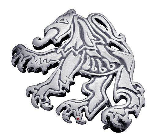 Broche Fabriqué en argent sterling stylisé écossais effréné de lion sans cadre - 30mm