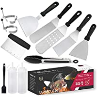 Professional Griddle Accessories Kit,12 Pcs Outdoor Stainless Steel Barbecue Tools Set,Great Flat Top Grill Cooking for…