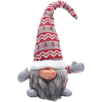 16 inches handmade christmas gnome decoration santa tomte holiday gifts swedish face figurines red - Christmas Gnome