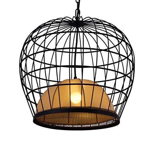 アメリカの国レトロな鉄の鳥かごのシャンデリアノルディック階段衣類店レストランバー工業用シャンデリアlu127326py (Size : D60CM) B07K35KWS8  D60CM