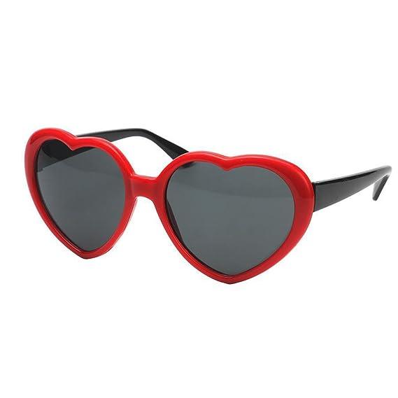 LUOEM Valentin en forme de coeur en forme de lunettes lunettes de soleil Party Eye Wear (rouge) iPfK92e9kh