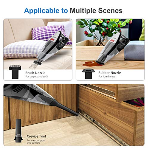 HoLife Handheld Vacuum 8kp Hand Vacuum Cordless Cleaner 21.9V 100W Cordless Vacuum for Home and Car Cleaning with Cyclone Suction by HoLife (Image #4)