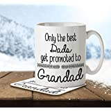 Only the Best Dads Get Promoted to Grandads - Mug and Coaster By Inky Penguin by The Inky Penguin