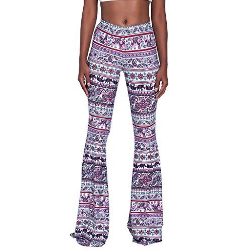 YKARITIANNA Women's Trousers High Waist Casual Tight Bell Bottom Pants Wide Leg Flared Pants 2019 -