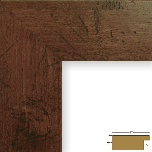 Craig Frames FM74DKW 16 by 20-Inch Rustic Wall Decor Frame, Smooth Grain Finish, 2-Inch Wide, Dark Brown