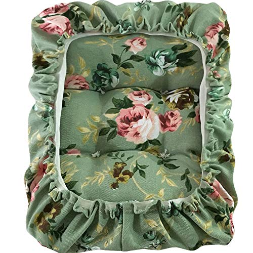TINTON LIFE Padded Rectangle Bar Stool Cover Cushion with Elastic Fabric Satori Stool Seat Cushion for Metal Wooden Bench 10