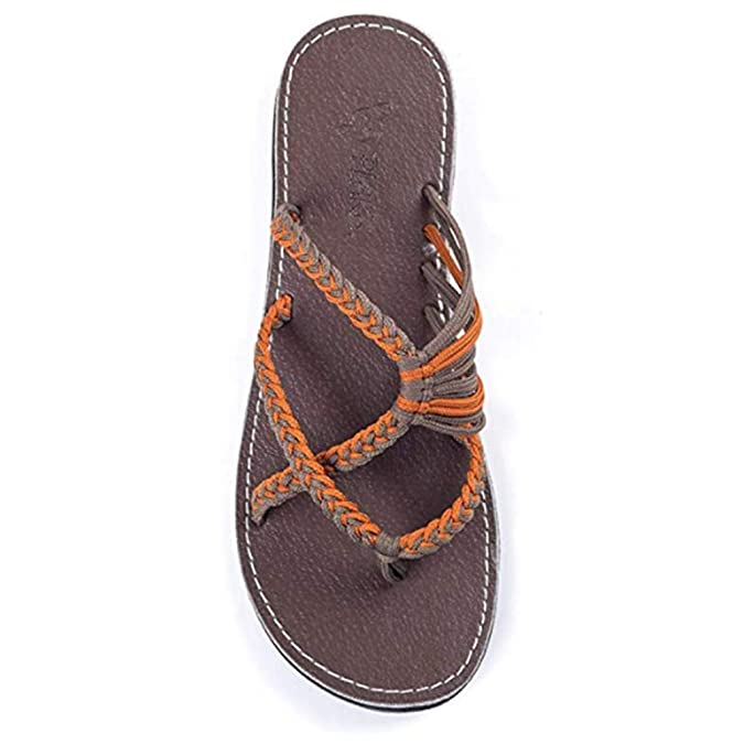 ae840dd3c65e Tootu women beach roman sandals hemp rope flip flops flat slippers sandals  jpg 675x675 Rope flip