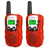 Friday Kids Walkie Talkies Boys Girls, Best Christmas Top Toys for 3-12 Year Old Girls Gifts for Girls Age 5-10 Fun New Party Toys Stocking Stuffer for Girls Toddlers Kids Halloween Red FDUSWT04