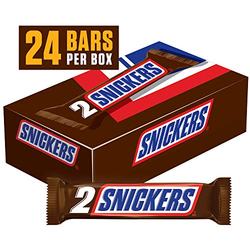 SNICKERS Sharing Size Chocolate Candy Bars 3.29-Ounce Bar 24-Count -